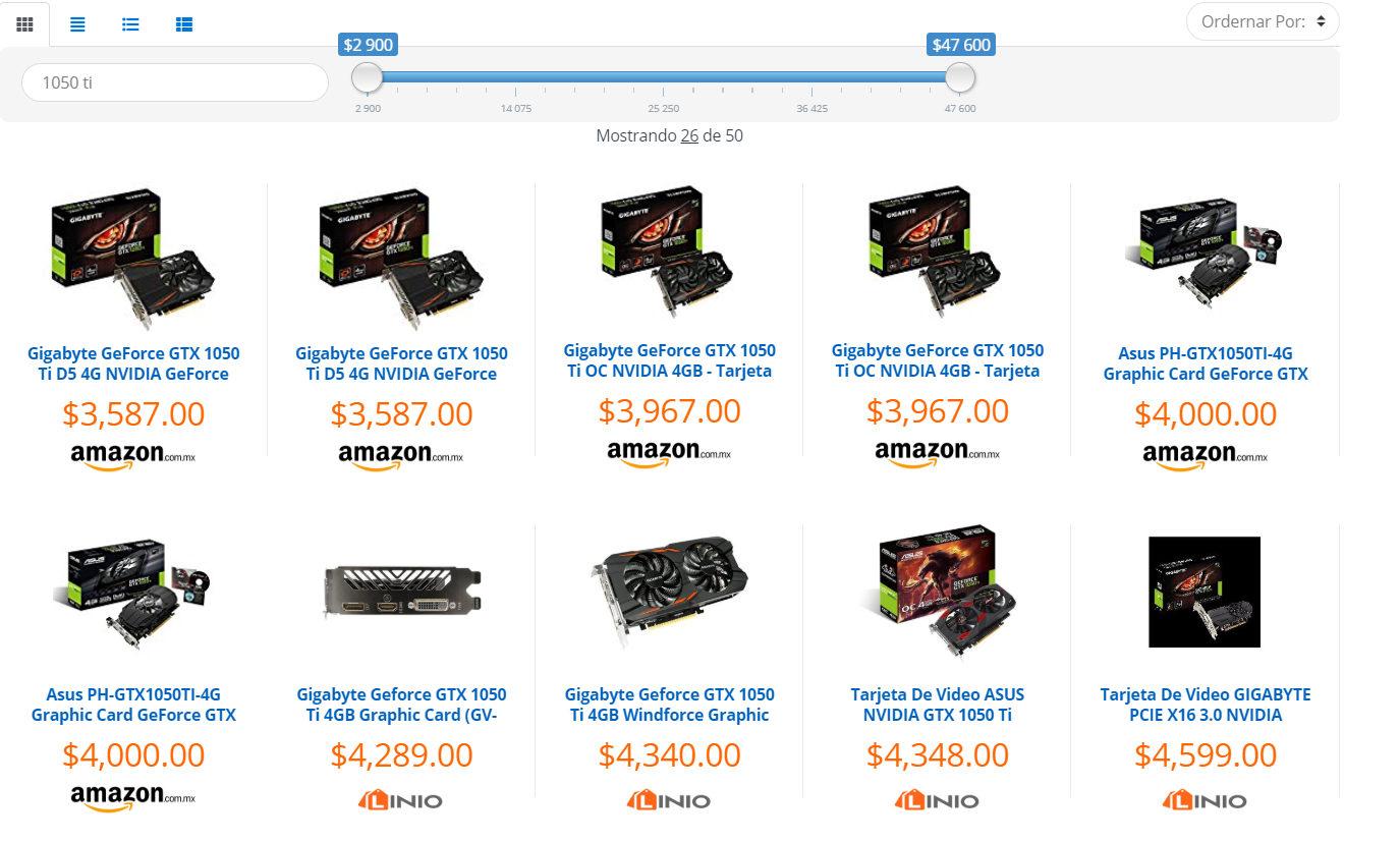 GTX 1050 TI precios