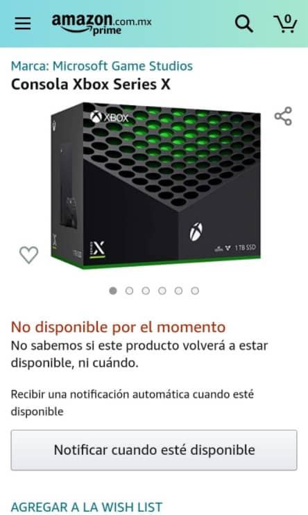Xbox Series X Amazon México en Preventa